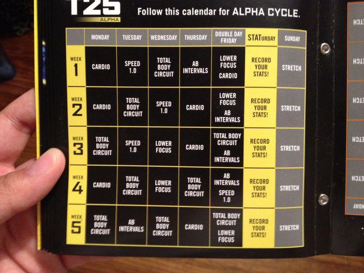 T25 calendar | Let's get skinny | Pinterest | Calendar