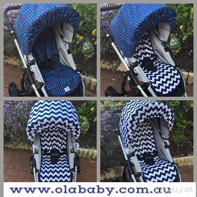 Only 2 products can transform your pram in so many ways! Hood cover and pram liner set for Steelcraft Strider. #bestpram #babypram #olababy #olababyhoodcover #OlaBabyPramLiner #OlaBabyboutique #babyfashion #cotton #cottonpramliner #getyourpramsummerready #olababycustommade #custommade #handmade #handmadeforkids