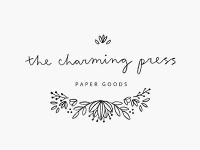 the charming press logo design by minna may