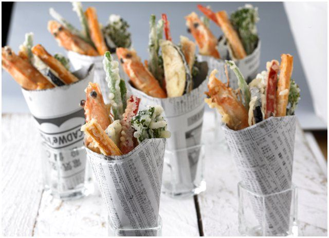 An alternative take on fish chips for canap s at your for Wedding canape alternatives