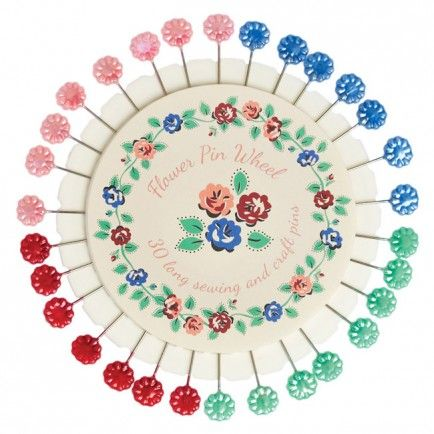 Rambling Rose Sewing Pin Wheel