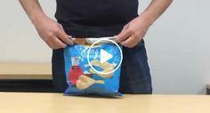 Como Fechar Corretamente Um Pacote De Batatas Fritas Usando Apenas o Próprio Pacote