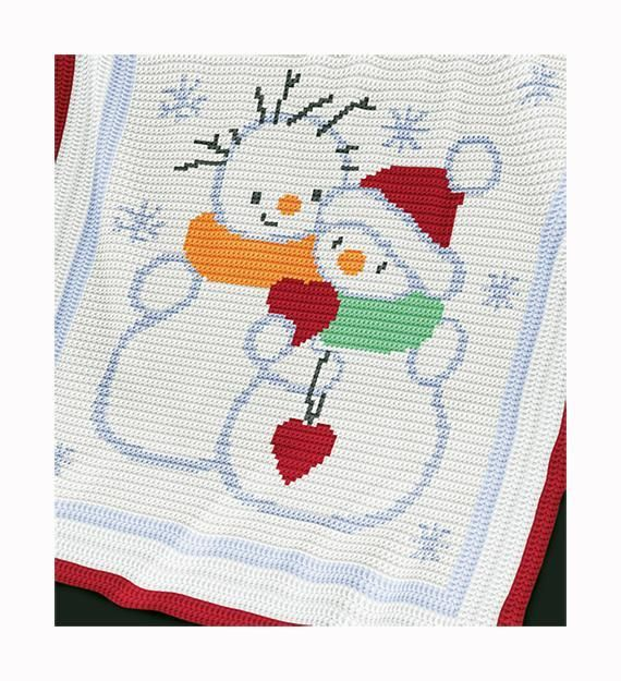 Looking for your next project? You're going to love Christmas Baby Blanket -Snowmen by designer sunrise_lina.