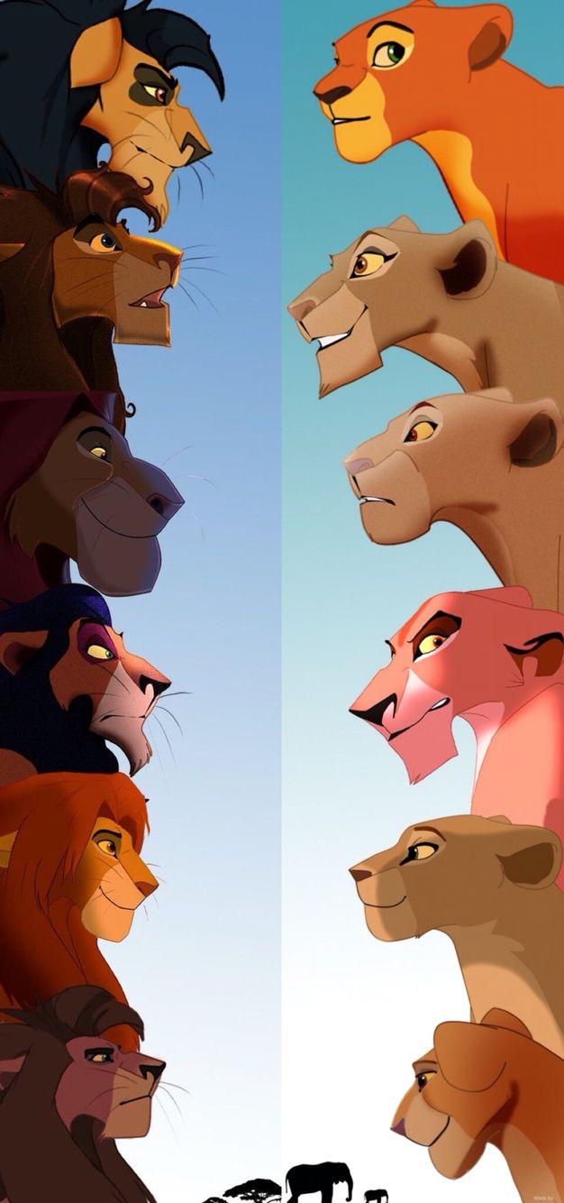 Картинки король лев все персонажи, днем рождения дочке
