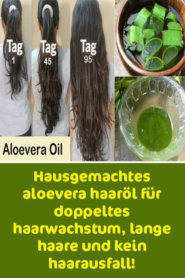 Hausgemachtes aloevera haaröl für doppeltes haarwachstum, lange haare und kein