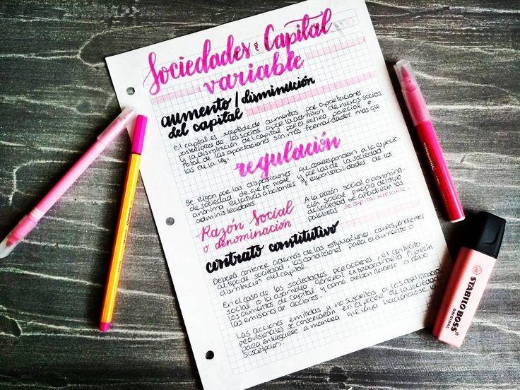 "50 Likes, 2 Comments - Studygram (@moka.studies) on Instagram: ""Sociedades de capital variable #stabilo #onmydesk #lifegoals #opocompis #studyblr #studytime…"""