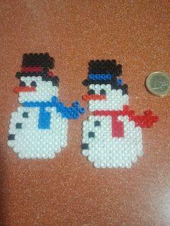 Snowmen hama beads by Andres Moreno Rodriguez