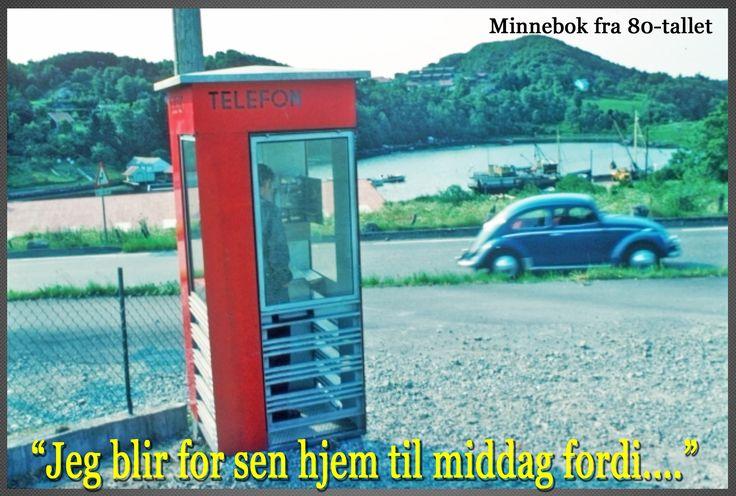 Kjenner du deg igjen? Dette var tidene før mobiltelefonen, der noen kronestykker og en kiosk var eneste måte å kommunisere hjem:)