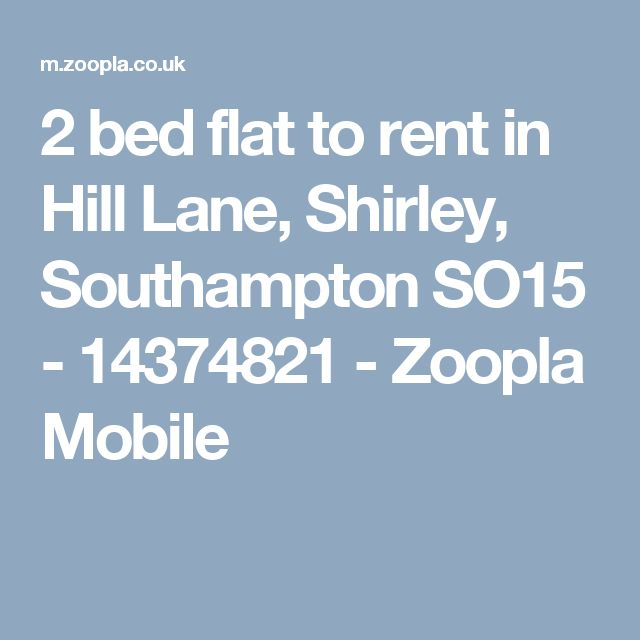 2 bed flat to rent in Hill Lane, Shirley, Southampton SO15 - 14374821 - Zoopla Mobile
