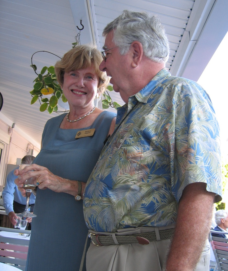 Barbara Hopton & Tom Halbert  at the Florida Sister Cities State Conference at the Helmsley Sandcastle on Lido Key in Sarasota in 2005