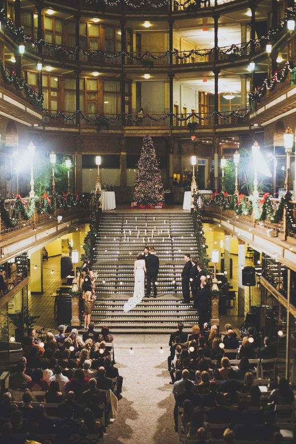 New Year's Eve Cleveland Wedding by Suzuran Photography - via ruffled (Venue: The Arcade)