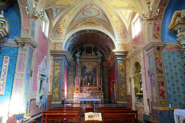 Offagna, Marche, Italy - Church of St. Lucia, altar by Gianni Del Bufalo