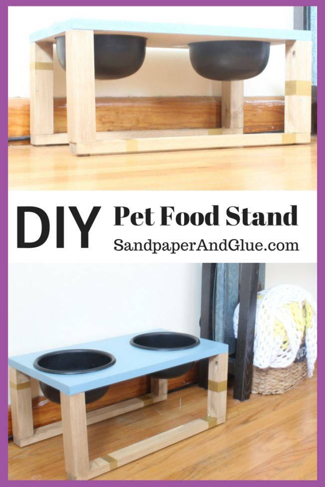 DIY dog food stand for medium and large dogs