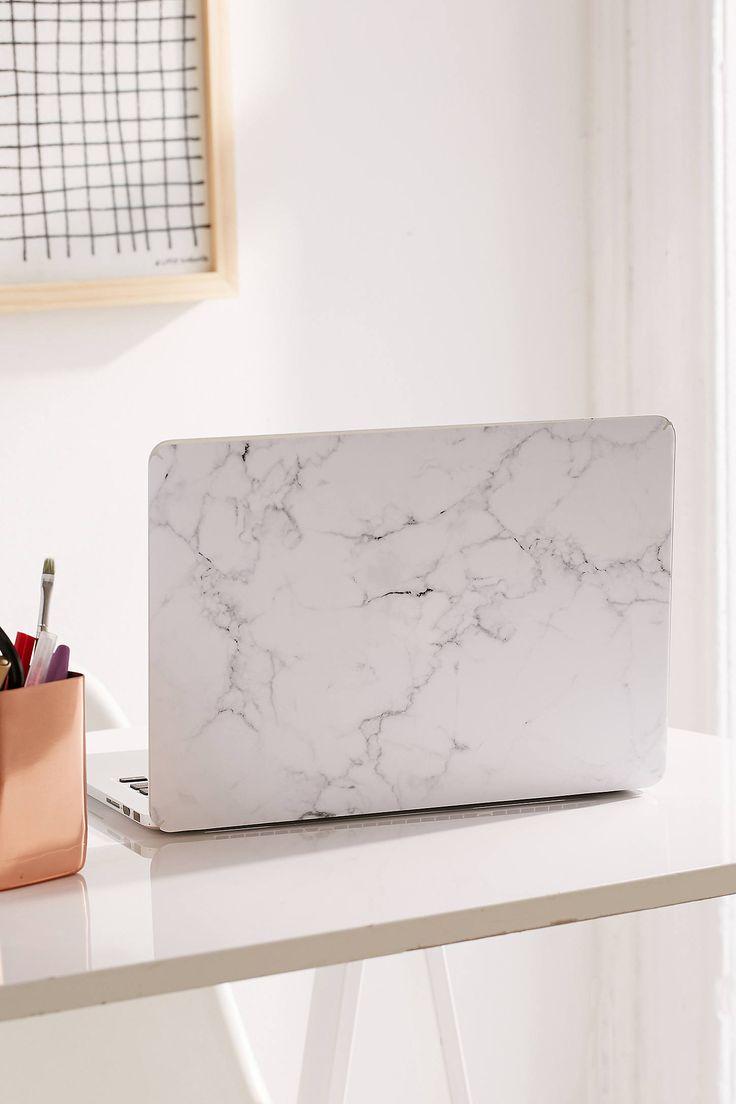 Slide View: 1: White Marble MacBook Pro Retina Skin