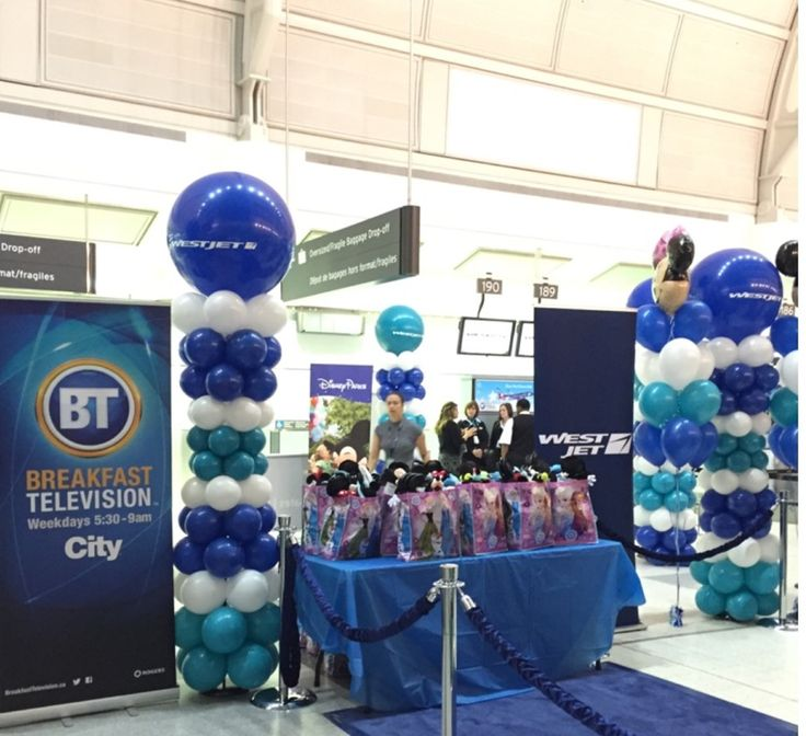 #Branding! Use #balloons to #advertise your #company!  #balloonarches #ballooncolumns  #3ftballoons #balloontrees #corporateevents #companyparty #eventstoronto #ballooncorporateevents #themedevents