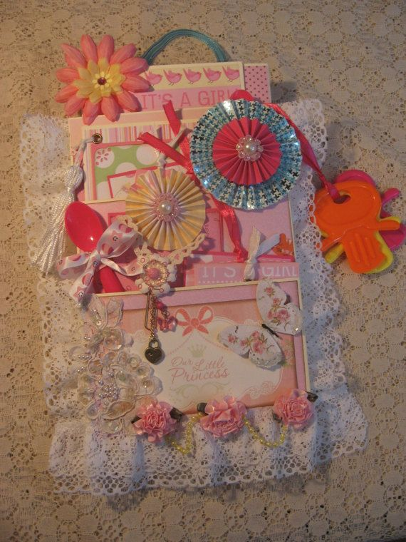 Loaded Envelope with SCRAPBOOK MINI ALBUM Baby by ScrappinRabbit