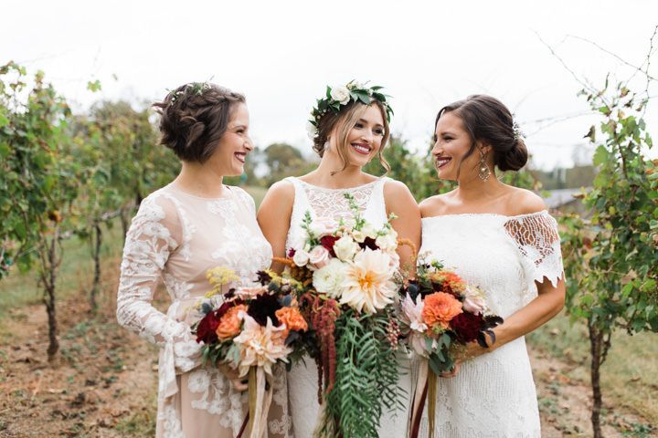 Lindsey and Jarrod's Bare Foot Fall Wedding in North Carolina by Gabrielle Von Heyking