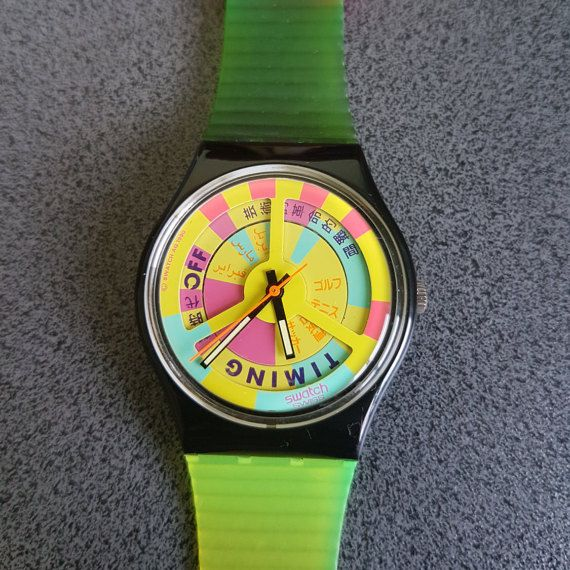 Multi Color Retro Swatch Winter Fall Watch GB721 Collection