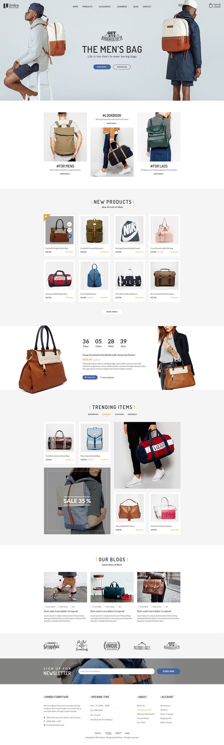 Umbra - Multi Concept eCommerce PSD Template on Behance