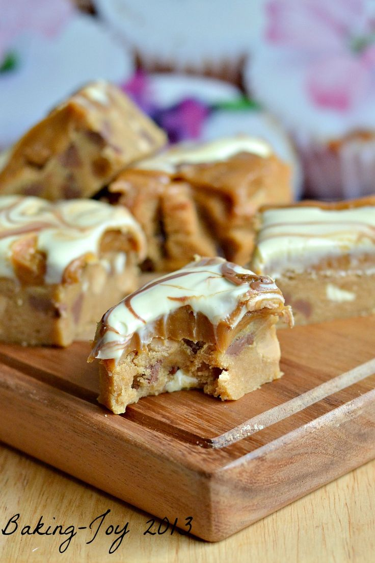 Peanut butter and caramel cookie bars 6