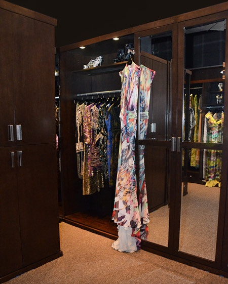 Naeem Khanu0027s Lady Gaga Dress Hanging Inside Showroom Closet. Learn More: Www .closetfactory
