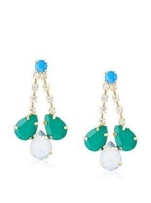 Leslie Danzis Embellished Crystal Drop Earrings
