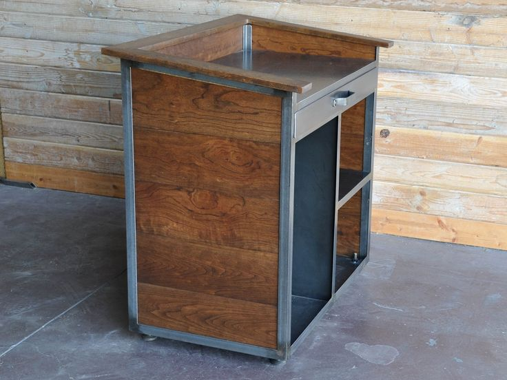 Stand Up Smoker Designs : Karl hostess stand restaurant industrial and desks