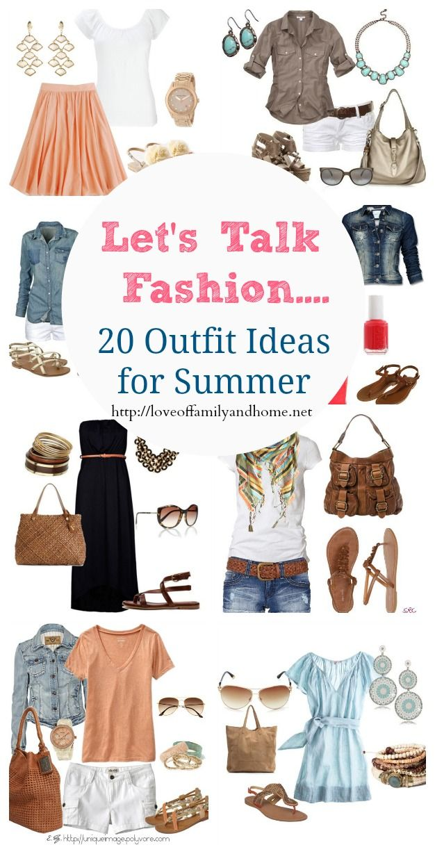 20 Outfit Ideas for Summer / capsule wardrobe