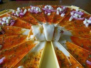 CROISSANTS APERO FACON PIZZA avec oignons