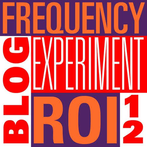 Do you know the ROI based on how often you blog? Check out my six month experiment!