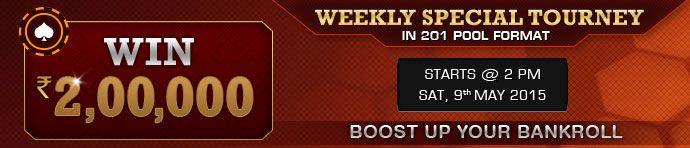 Join the weekly special #Ace2Three Rummy Tournament and Win Rs.2 Lakhs in Cash Prizes! Join for Free!