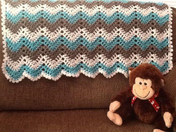 baby unisex chevron ripple baby crochet by DonnasPinsandNeedles