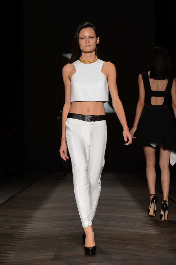The Cypress Box Leather Top and Arion Trousers by CAMILLA AND MARC at MBFWA