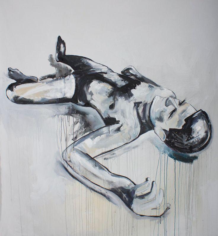 www.creatingmadness.com.au  Destructive Control  Acrylic , Oil bar , Spray and Charcoal on canvas 2014