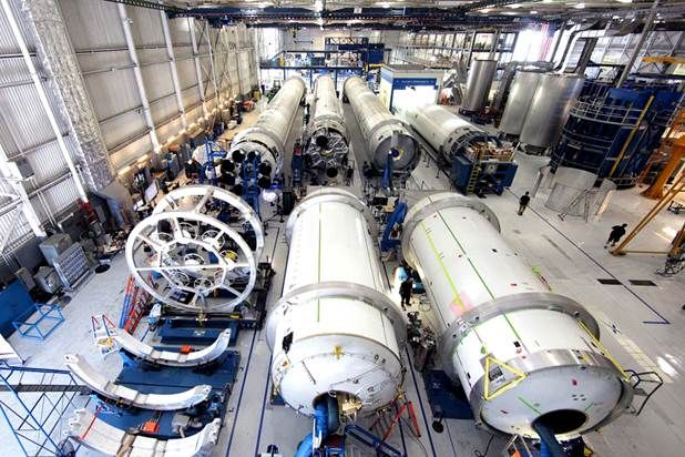 What's better than pictures of a rocket under construction? Rocket assembly lines!  Production at SpaceX | SpaceX
