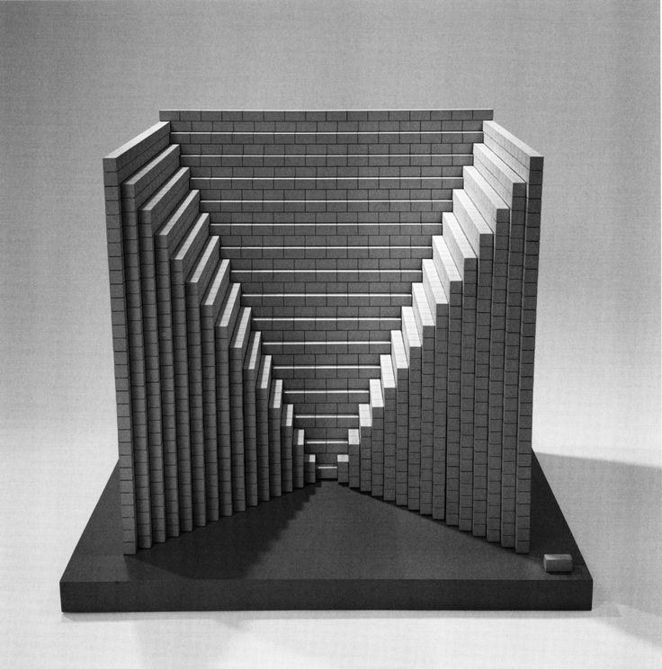 Sol LeWitt, 'Negative Pyramid', Maquette for Concrete Block Structure, 1996