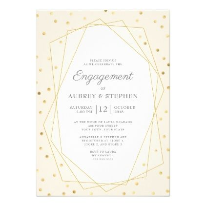 Blush Burgundy Gold Confetti Engagement Party Card - invitations custom unique diy personalize occasions