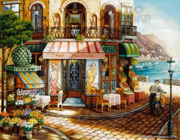 Романтические улицы в работах Джона О'Брайена (21 картина)