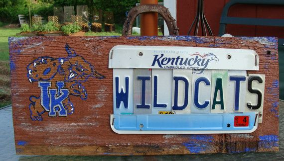 Kentucky Wildcats UK College License Plate Man Cave Sign by dables, $55.00