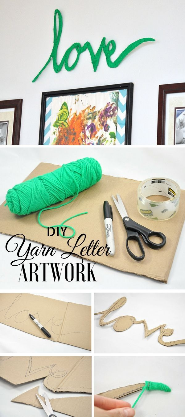 Check out this easy idea on how to make #DIY yarn letter wall art for #apartments #homedecor #budget #crafts @istandarddesign