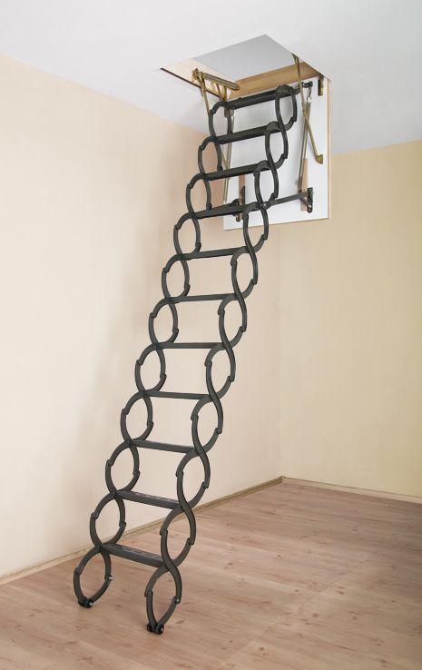 Металлические складные и раздвижные чердачные лестницы