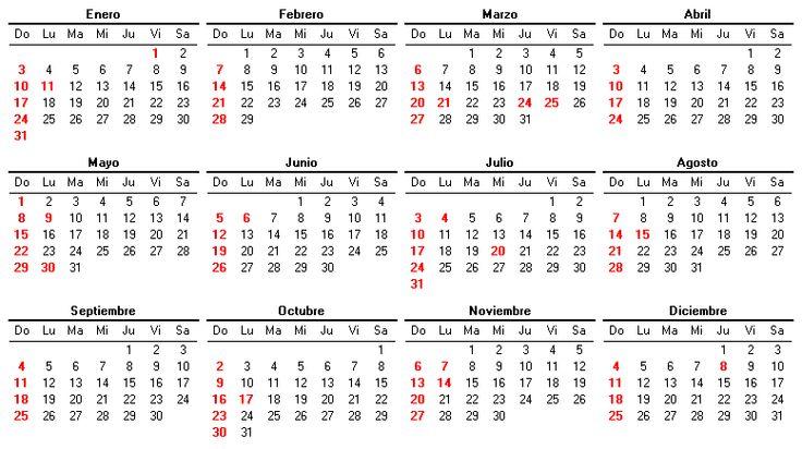 calendario 2016 colombia  | Calendario 2016 - EnlaceTotal.com