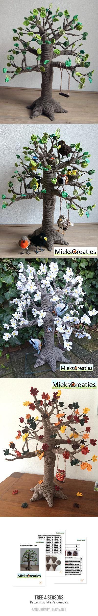 Tree 4 Seasons Amigurumi Pattern