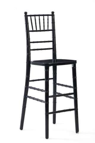 Black Chiavari Bar Stools with Red Chair Pads - $12.00 each.