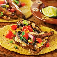 Meatless Dish: Tacos Recipes, Mushrooms Tacos, Portabella Tacos, Dishes, Tacos Don T, Dinners Ideas, Portobello Mushrooms, Portobello Tacos, Favorite Recipes