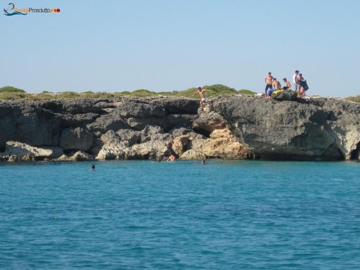 Torre Castiglione's cliff, Salento, Puglia