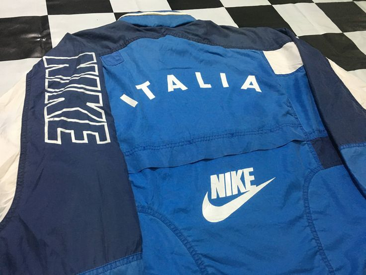 Vintage Nike jacket windbreaker spell out on arm Nike Italia Size L Good condition by AlivevintageShop on Etsy