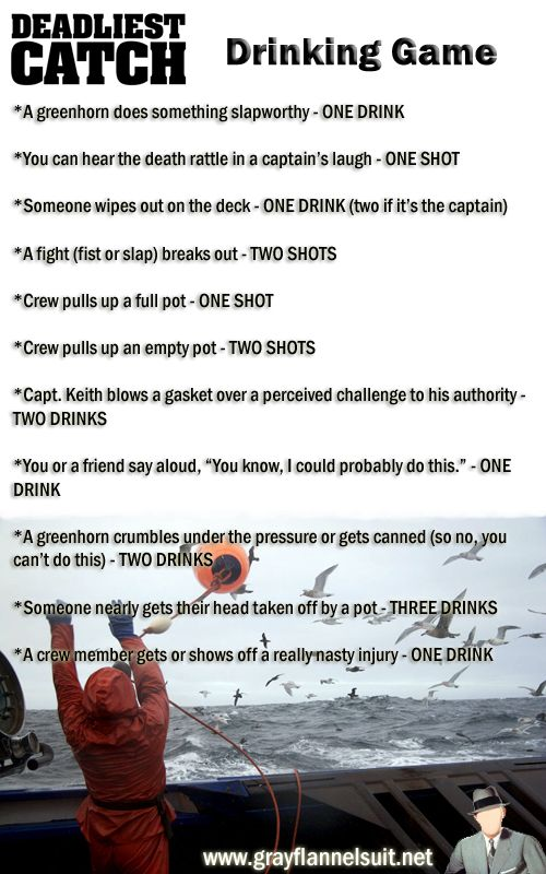 Deadliest Catch Drinking Game ( doing this tonight)