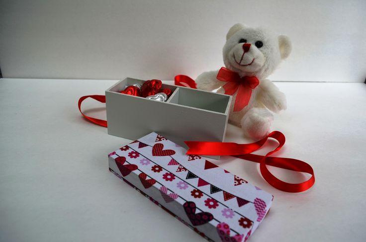 Valentine's box stuffed with chocolate