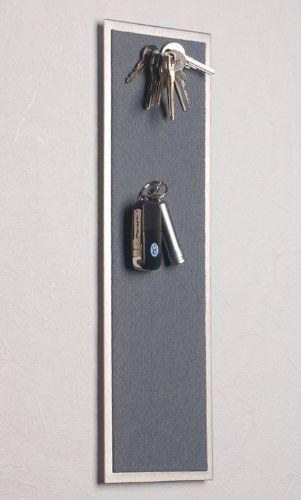Magnet - Schlüsselboard aus Edelstahl, mit Filz in Grau:Amazon.de:Küche & Haushalt